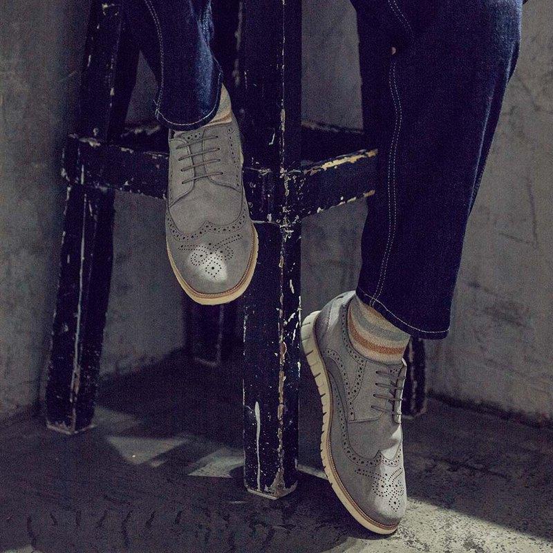 Own-way玩味街型紳士德比鞋- Va264灰