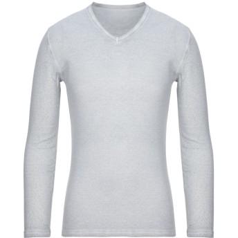 《セール開催中》MAJESTIC FILATURES メンズ T シャツ ライトグレー M コットン 70% / カシミヤ 30%
