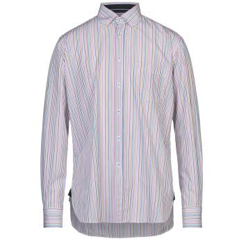 《セール開催中》INGRAM メンズ シャツ ホワイト 40 コットン 100%