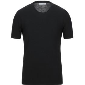 《セール開催中》FILIPPO DE LAURENTIIS メンズ T シャツ ブラック 46 コットン 100%