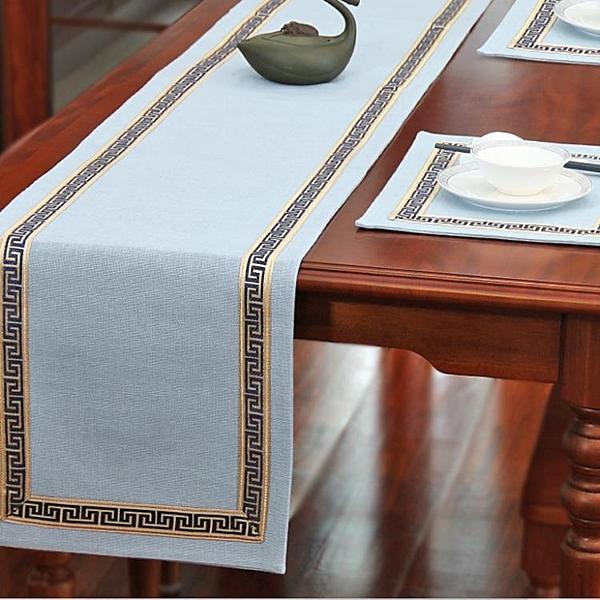桌旗茶旗布禪意席茶幾桌布簡約北歐床旗餐桌茶桌布【英賽德3C數碼館】
