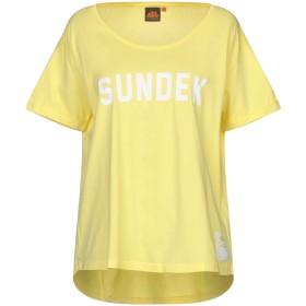 《セール開催中》SUNDEK レディース T シャツ ライトイエロー M コットン 100%