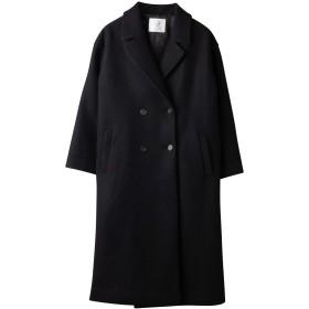 チェスターコート レディース 【こだわりのシルエット】 極上の肌ざわり コート (ブラック, M)