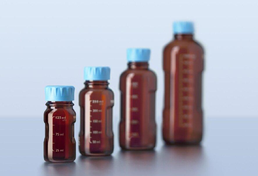 《實驗室耗材專賣》DURAN SCHOTT 德製 YOUTILITY 茶色易拿型血清瓶 125ML【1支】 耐熱玻璃瓶 試藥瓶 收納瓶 環保玻璃無毒水瓶
