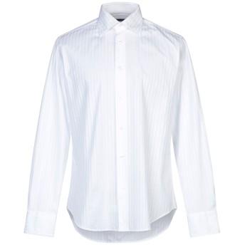 《セール開催中》PAL ZILERI メンズ シャツ ホワイト 40 コットン 100%