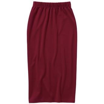 59%OFF【レディース大きいサイズ】 カットソータイトスカート - セシール ■カラー:ボルドー ■サイズ:4L,5L