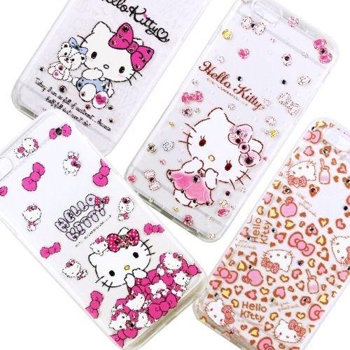 Hello Kitty 鑽殼 施華洛世奇 5.2吋 Sony Z5/E6603/E6653 鑲鑽 軟殼/保護殼
