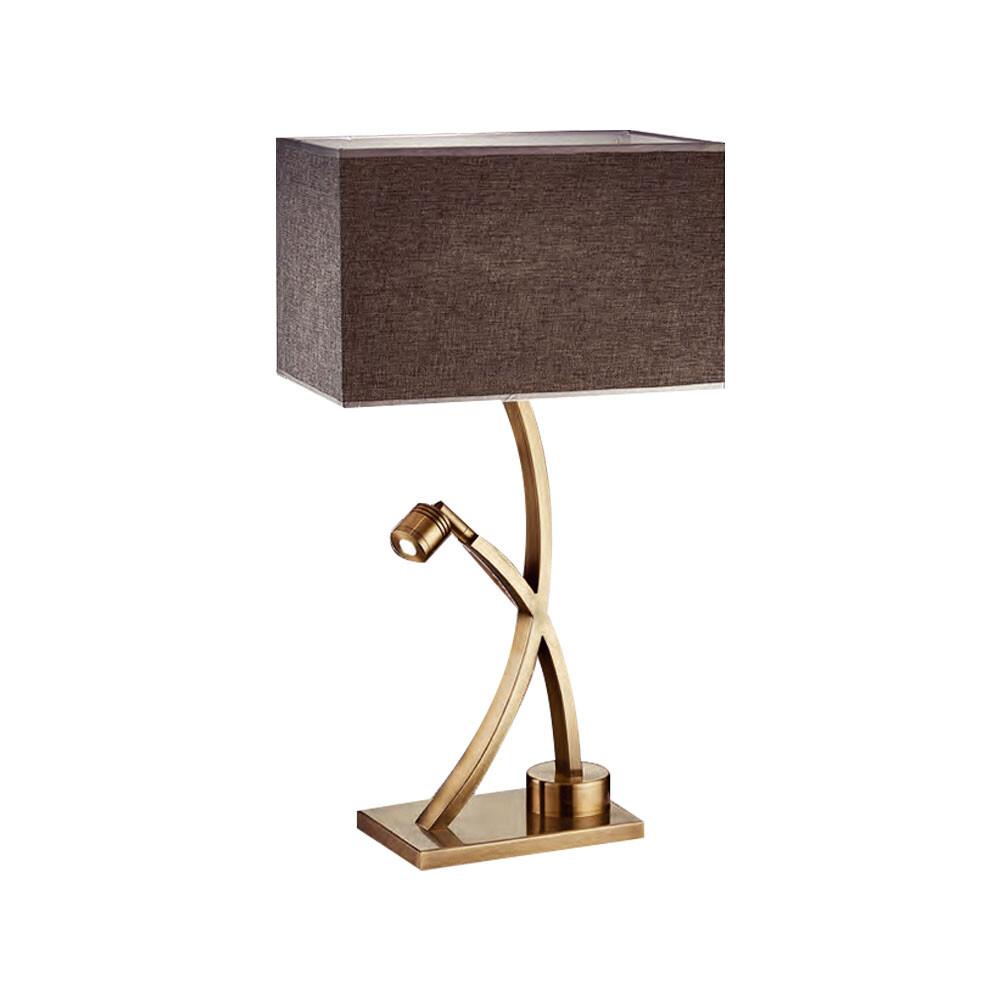 永光北歐風 典雅布罩 書房 閱覽室 檯燈 桌燈 閱讀燈 附開關 鐵藝電鍍 光源另計 f4-b54