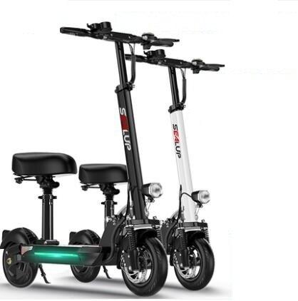 鋰電池電動滑板車成人折疊代駕兩輪代步車迷妳電動車電瓶車