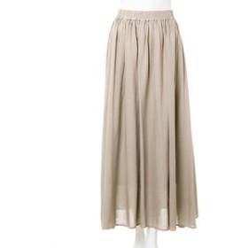 【INGNI:スカート】麻ギャザーロング スカート