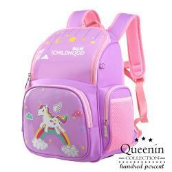 DF 童趣館 - 機能型反光條防潑水健康護脊兒童後背包-共2色