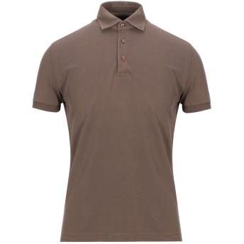 《セール開催中》DELLA CIANA メンズ ポロシャツ カーキ 46 コットン 100%