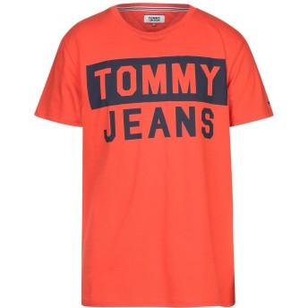 《セール開催中》TOMMY JEANS メンズ T シャツ レッド XL コットン 100%