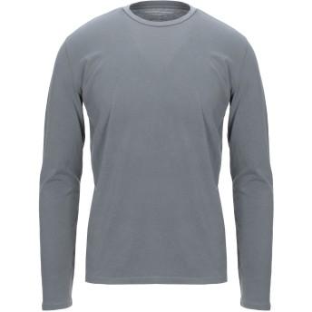 《セール開催中》MAJESTIC FILATURES メンズ T シャツ グレー M コットン 94% / ポリウレタン 6%