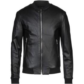 《セール開催中》STREET LEATHERS メンズ ブルゾン ブラック S 革 100% / 紡績繊維