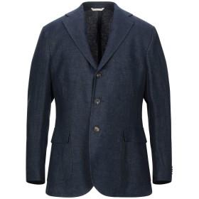 《セール開催中》DOPPIAA メンズ テーラードジャケット ダークブルー 50 リネン 100%