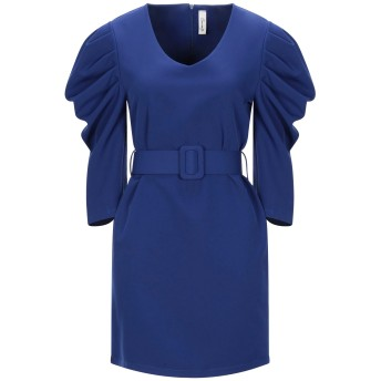 《セール開催中》SOUVENIR レディース ミニワンピース&ドレス ブルー S ポリエステル 89% / ポリウレタン 11%