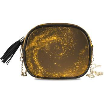 KAPANOU レディース チェーンバッグ,ゴールドラメテクスチャクリスマス抽象的な背景,ミニファッションかわいいデザインショルダーバッグパーソナライズされたカスタムの異なるスタイルの色