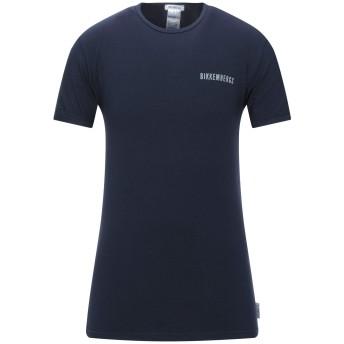 《セール開催中》BIKKEMBERGS メンズ T シャツ ダークブルー M コットン 94% / ポリウレタン 6%