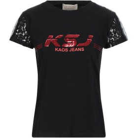 《セール開催中》KAOS JEANS レディース T シャツ ブラック XS コットン 100% / ナイロン