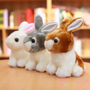 仿真公仔兔子毛絨玩具可愛玩偶少女心娃娃【萬事屋】  聖誕節禮物