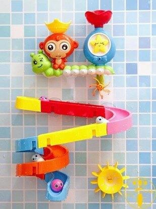 寶寶洗澡玩具嬰兒童玩水軌道花灑水上戲水玩具【伊卡萊】  聖誕節禮物