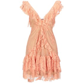 《セール開催中》ANIYE BY レディース ミニワンピース&ドレス サーモンピンク M コットン 52% / ポリエステル 48%