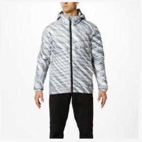 ◆◆ <ミズノ> MIZUNO テックフィルジャケット[メンズ] 32ME9536 (04:ホワイト×シルバーグレー) スポーツウェア