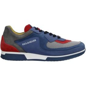 《セール開催中》PAUL & SHARK メンズ スニーカー&テニスシューズ(ローカット) ブルーグレー 39 革 / 紡績繊維