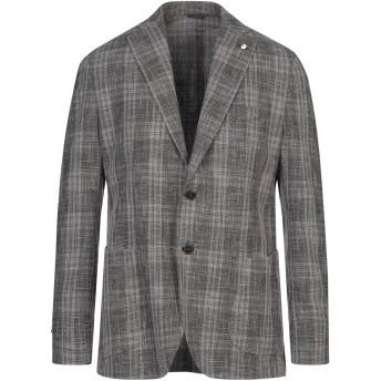《セール開催中》L.B.M. 1911 メンズ テーラードジャケット ダークブラウン 52 ウール 43% / コットン 29% / ナイロン 21% / リネン 7%