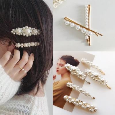 kiret日韓 甜美浪漫氣質珍珠瀏海髮夾 超值4入組