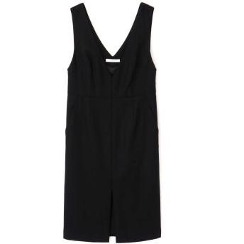ピンキーアンドダイアン PINKY & DIANNE ウールヘリンボーンジャンパースカート ブラック 36【税込10,800円以上購入で送料無料】