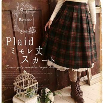 COSLOLI ロリータ日本格子縞のスカート森ガール秋冬ヴィンテージ女性の衣服厚いウール原宿弾性ウエスト女性のかわいいスカート