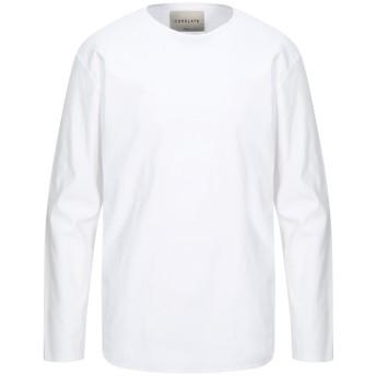 《セール開催中》CORELATE メンズ T シャツ ホワイト M コットン 97% / ポリウレタン 3%