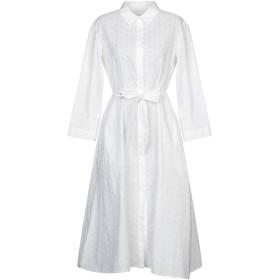 《セール開催中》JADICTED レディース 7分丈ワンピース・ドレス ホワイト L コットン 100%