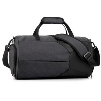 トートバッグ ビジネス 男性と女性のフィットネスバッグトラベルバッグショルダーメッセンジャーバッグシリンダースポーツバッグ おしゃれ 日常 (Color : Black, Size : M)