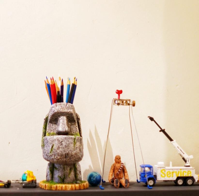 摩艾石像桌面收納 復活島石像 巨石像摩艾 創意禮物 交換禮物