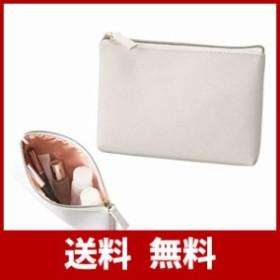 スリム 薄型 コスメポーチ 化粧ポーチ 小物入れ 裏側 ピンクゴールド コンパクトなサイズ