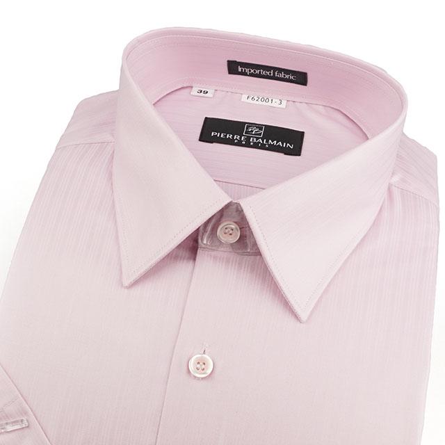 皮爾帕門pb紅色緹花進口素材、簡易整燙合身短袖襯衫62001-03 -襯衫工房