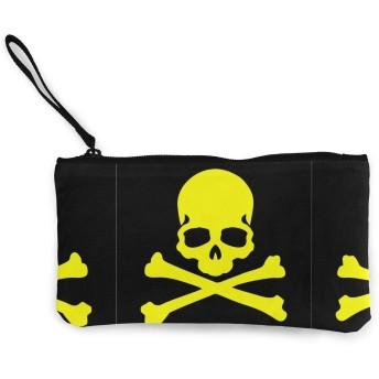 スカルフィリッププレインロゴ 口紅、コイン、現金、クレジットカード、ヘッドセット、USB用のジッパー付きキャンバス小銭入れ小さなかわいいポーチ