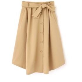 ナチュラルビューティー ラージ(NATURAL BEAUTY LARGE)/トロポリーフロントボタンスカート