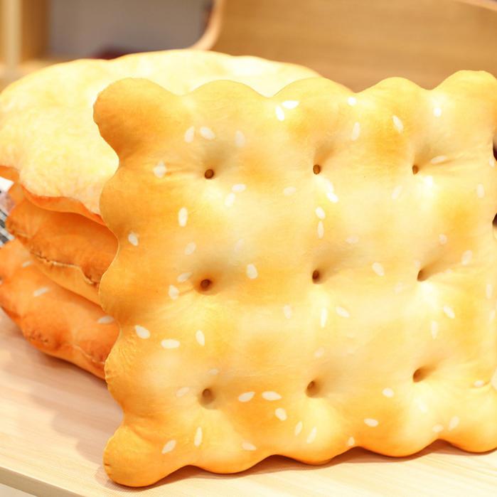 好吃餅乾彈力坐墊 (圓形/方形)  蘇打、小圓餅 超KUSO 幽默趣味小物【棉床本舖】