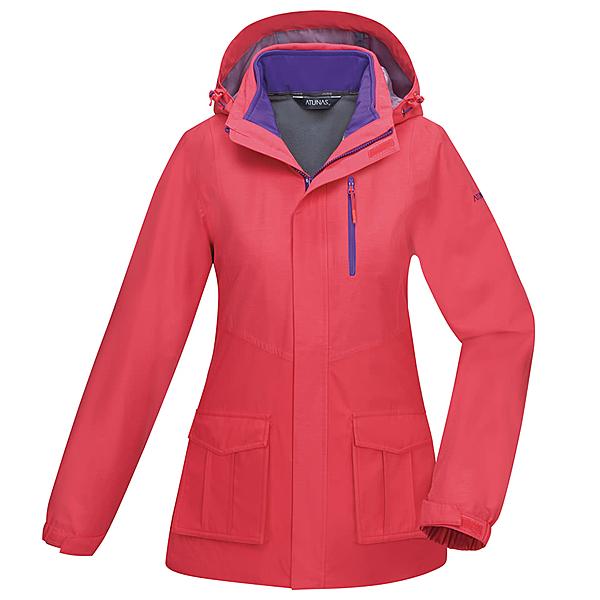 【ATUNAS 歐都納】兩件式防水外衫+softshell內裡保暖外套★買就贈保暖圍巾一條★(A1GA1913W珊瑚紅)女