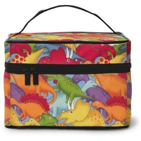 化粧ポーチ メイクボックス 恐竜の時代 コスメボックス 化粧バッグ 大容量収納ケース トラベルバッグ 小物入れ 収納ボックス 洗面用具入れ 出張 旅行 家用 收納抜群 ファスナー