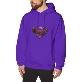 スーパーマン メンズ パーカー プルオーバー 長袖 フード付き プルオーバー 秋冬 暖かい スウェットシャツ 防寒 おしゃれ カジュアル