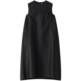 robelite & CO. ローベリイテアンドシーオー ウールシルクツイルテントドレス ブラック