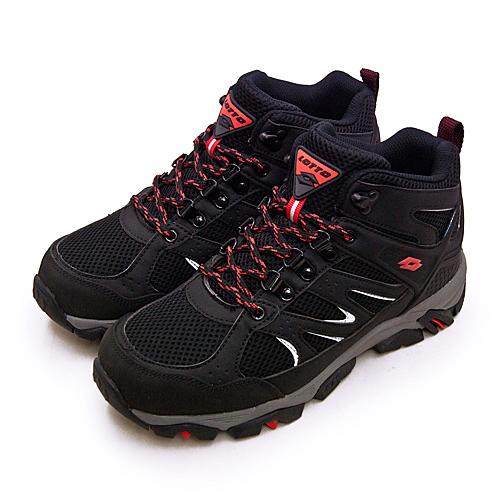 LIKA夢 LOTTO 專業多功能防水郊山戶外健行登山鞋 SABRE MID 3系列 黑灰 1250 男