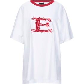 《セール開催中》ERMANNO DI ERMANNO SCERVINO レディース T シャツ ホワイト 48 コットン 100%