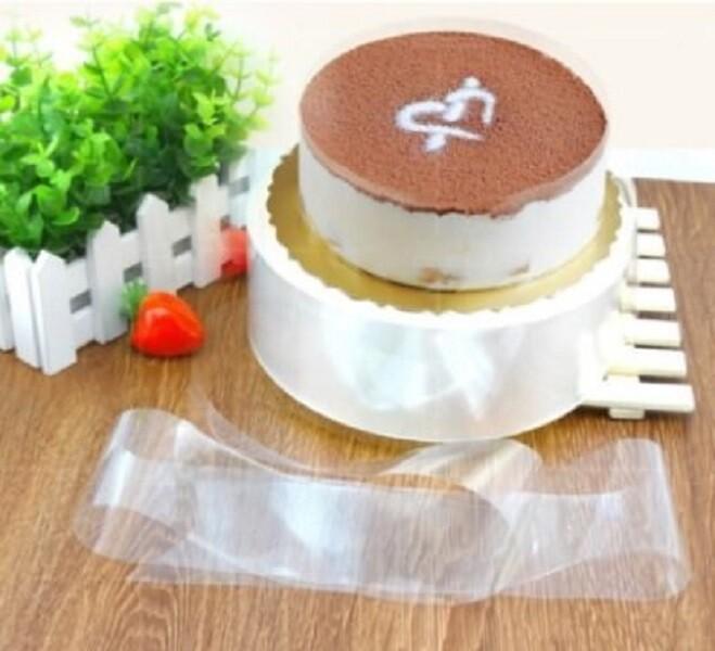 100條入22.5x5.8cm慕斯蛋糕圍邊 透明糕點圍邊紙 包邊紙 透明環保邊膜 幕斯硬圍邊k062