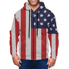 自慢のアメリカの国旗 綿100% ティーシャツド ジップパーカー ジップパーカー Tシャツ